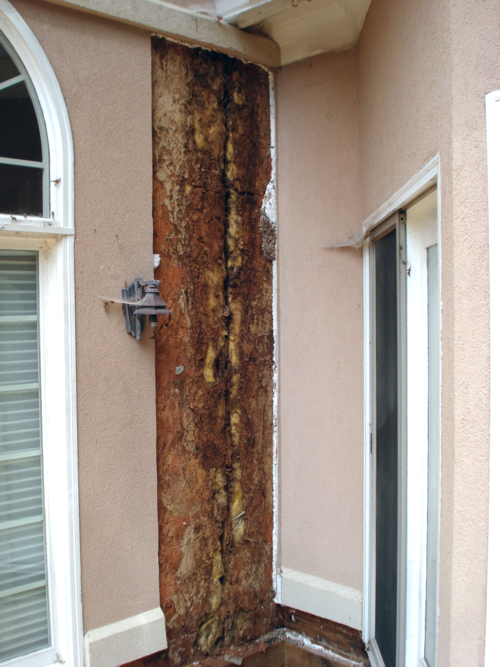 Stucco Repair Process Photo
